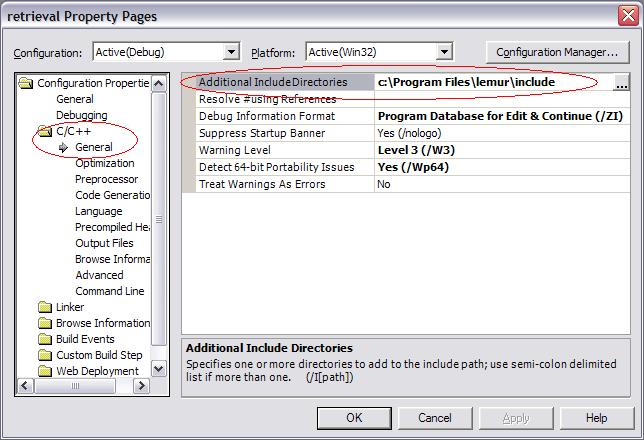 VS .Net Configuring additional include directories
