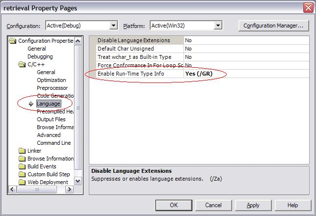 VS .Net adding run time type information.